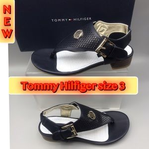 Tommy Hilfiger Girl's Navy Sandals Size 3